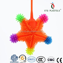 Promotional Small sticky toys for kids squishy puffer ball star shaped sticky toy
