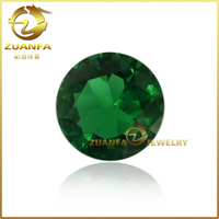 hot sale diamond cut round shape 3mm green glass gems, loose glass stones for costume jewelry