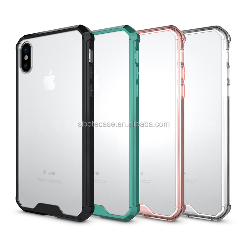 Best amazon selling anti-scratch transparent TPU PC case for IPhone 8,aryclic case for IPhone 8