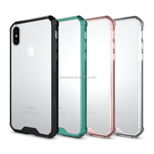 anti-scratch transparent TPU PC case for IPhone X,clear hard armor case for iphone x