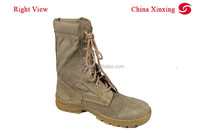 China Xinxing New Rubber Sole Khaki Desert Leather Military Boots