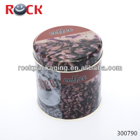 coffee tin/coffee cans/packaging round tin can sale