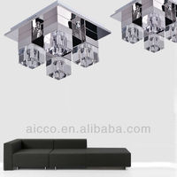 Modern Home Decorative LED Ceiling Light With K9 Crystal Glass