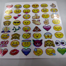 All Kinds of Hologram Emoji Stickers Shiny stickers
