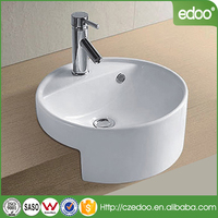 Chaozhou factory vitreous ceramic cabinet basin for bathroom cabinet hand washing basin with faucet tap