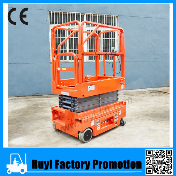 Top quality self propelled scissor lift,motorcycle lift used