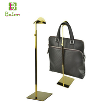 High end popular supermarket mall metal handbags display stand cabinet for retail store handbag display rack with hook