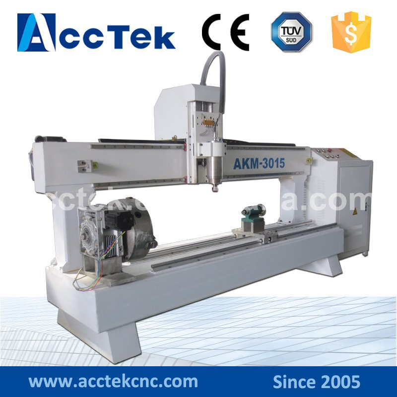 Jinan AccTek cnc router for cylindrical process / cylindrical engraving machine 300*1500mm