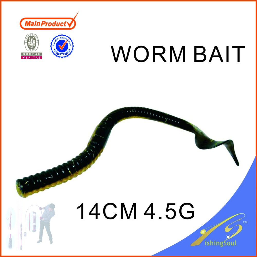 SLL095 various fishing tackle hotsale handmade fishing lure soft lure worm bait