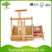 2016 Wholesale good quality adjustable cheap wooden easel for Painting