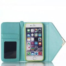 Envelope Leather Case for iPhone 6s Wallet Leather Case with Card Slot with Free String MT-5037