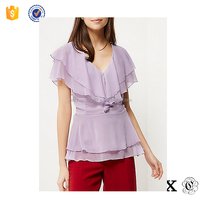 BT6301 2016 Women Double Frill Layer Blouse