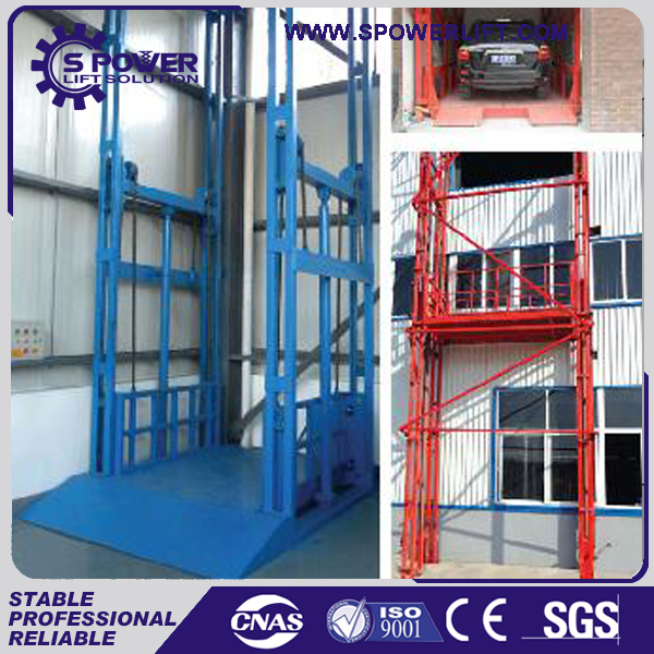 China vertical hydraulic cargo lifting equipment for granite