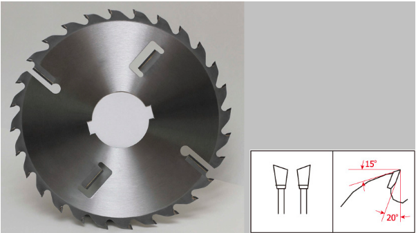 carbide Multi rip saw blade with scraper /  wipers / Keyway