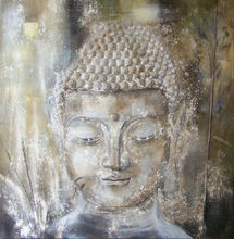 buddha painting,buddha oil painting on canvas,modern art buddha abstract painting