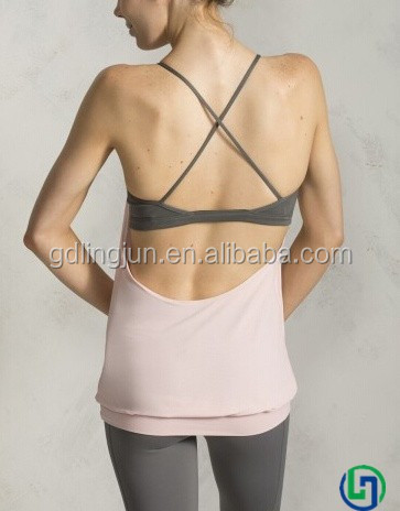 New arrival top class designed lycra body fit clothing ladies fancy yoga wear