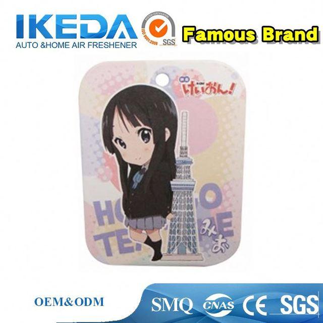 Customized logo best fragrance paper car air freshener/unique car air fresher/hanging paper air freshener for car