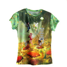 Top level unique 100 polyester sublimation t shirt