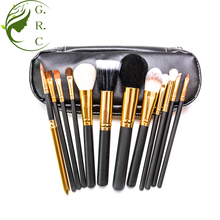 Facial Cleaning Cosmetic Brush With Private Labeling Black Zipper Bag