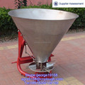 Tractor 3-PT linkage stainless cone bucket fertilizer spreader machine