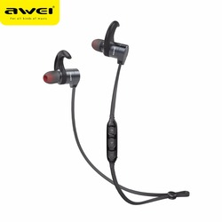 Awei brand name earphones bluetooth wireless headphones 2017