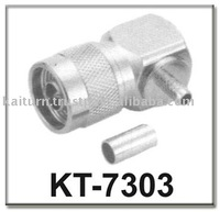 Reliable Quality (KT-7303) Right Angled N Male Connector, crimp type
