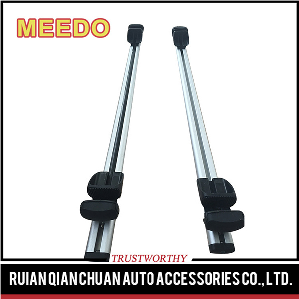 Aluminum plastic roof rails rack in car