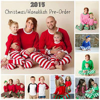 unisex children clothing sets wholesale kids Christmas pajamas