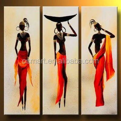 India China United Kingdom Three beautiful slim ladies 100%handmade classic decoration oil painting in canvas