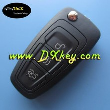 Topbest Hot sale product for F-ord Focus 3 buttons car remote key 433 mhz,4D63(copy 80 bit) key ford focus