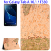 Map Texture Flip Leather Case for Samsung Galaxy Tab A 10.1 Tablet Cover