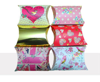 Colorful Paper Pillow Box Wholesales