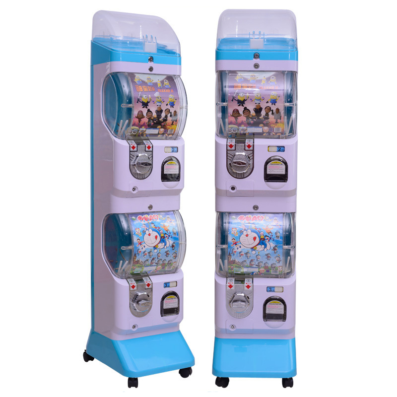 Two boxes gashapon plastic toy station Capsule Spival Vending Machine