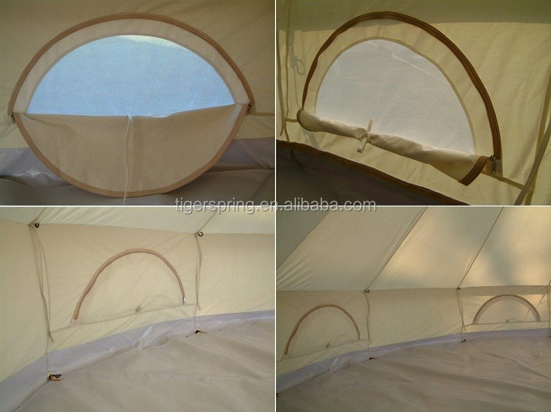 Outdoor Luxury Cotton Canvas Family Camping Bell Tents