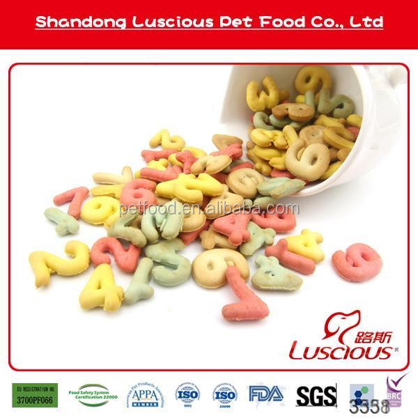 Biscuit in Numbers Shape Adult Pet Snacks Wholesale