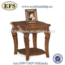 Chinese Manufacturer Wholesale customized antique wood end table with carved leg