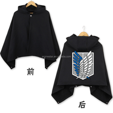 High Quality Cosplay Cloak Attack on Titan Black Marks Fashion Anime Costume