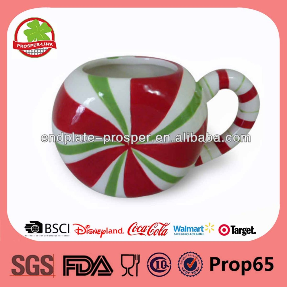 8-16 oz Candy Rainbow Ceramic Christmas Mug