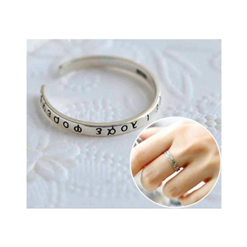 S925 Hot Selling Thai Silver Engagement Promise Silver Ring For Couple Moonso AR4633