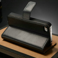 Smart wallet leather phone cover carrying case provide housing for Iphone 4 4S