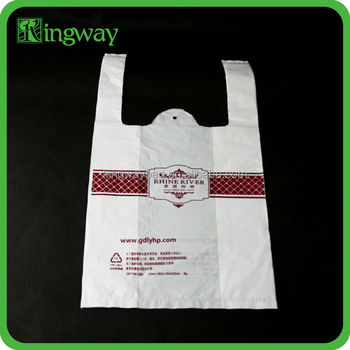 mesh printed hdpe brand promotional logo recyclable custom cheap reusable plastic shopping po bag