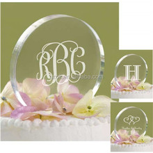 Hot selling excellent round clear acrylic wedding cake stand