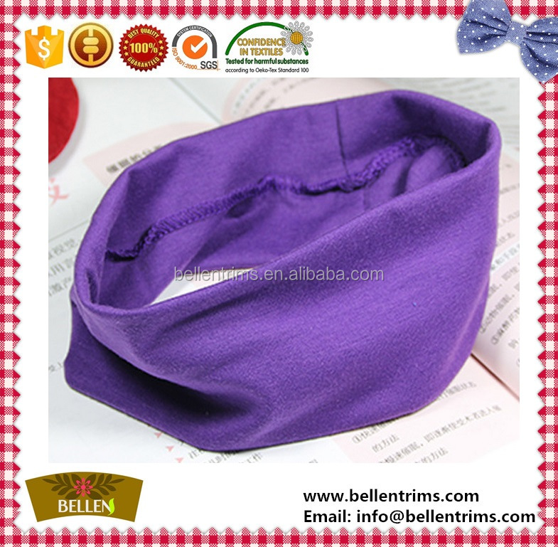 Custom brand logo headband 100% cotton sport running wide headband