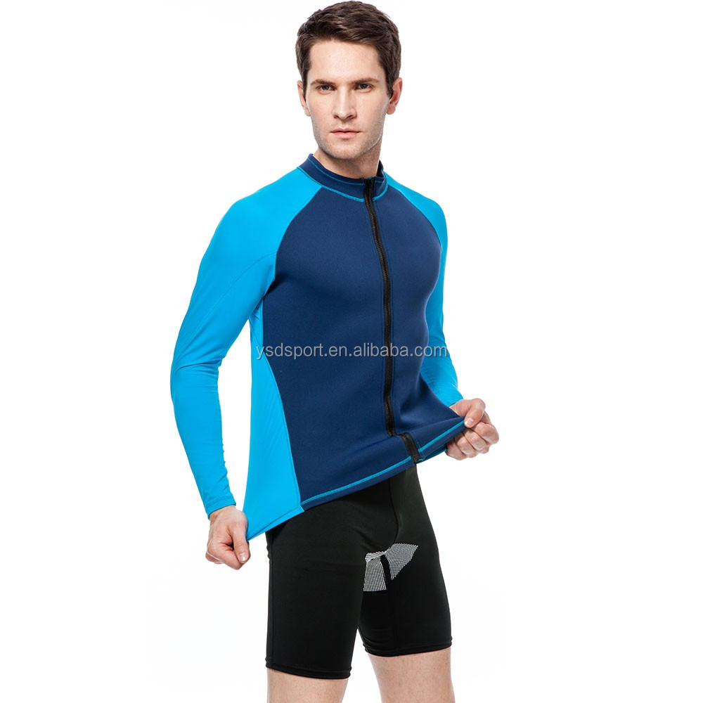 men neoprene long sleeves Jellyfish/ surfing full-zip wetsuit jacket