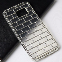 Trending Hot Products brick grain electroplating Clear Transparent Mobile Phone TPU Case for Sam Galaxy S6