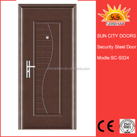 Polyester Powder coated metal doors exterior SC-S024