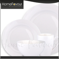 Strict QC Factory Unique Design Home Flat White Porcelain Cake Plate