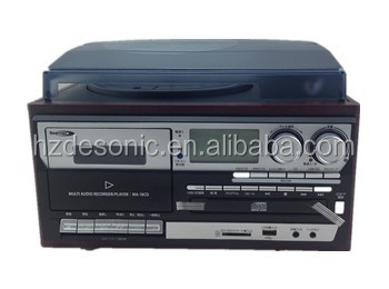 Multi Turntable Player Amp Vinyl Player With Cd Player Usb Sd