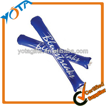 Promotional Customized PE Plastic Inflatable Cheering Stick Inflatable Noise Stick Bang bang Stick