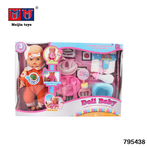 New Hot Selling Dolls for Kids 14 inch Baby Dolls Toys with IC/Drinking/Pee Wholesale Doll Toy